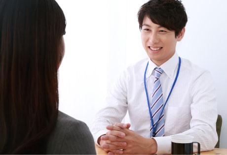 求人応募に対して一人一人に時間をかけて個別面談